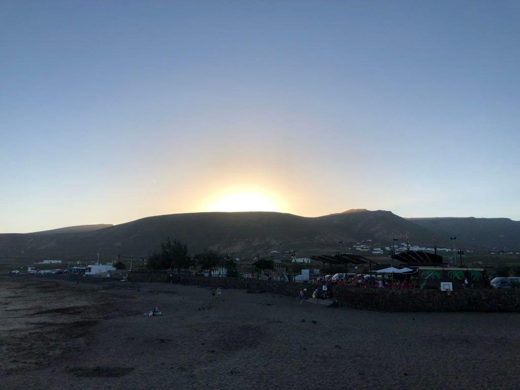 Sonnenuntergang am Strand  Lanzarote